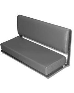 Grey vinyl 2 seater bench seat