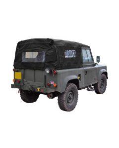 90 Full Black Hood with Side Windows - Defender pre 2000