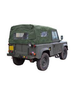 90 Full Khaki Hood with Side Windows - Defender pre 2000