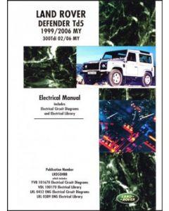Land Rover Defender Td5 Electrical Manual 1999-2006 MY & 300Tdi 2002-2006 MY onwards