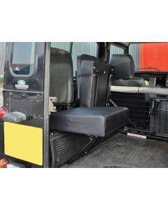 Individual inward facing seat - black vinyl