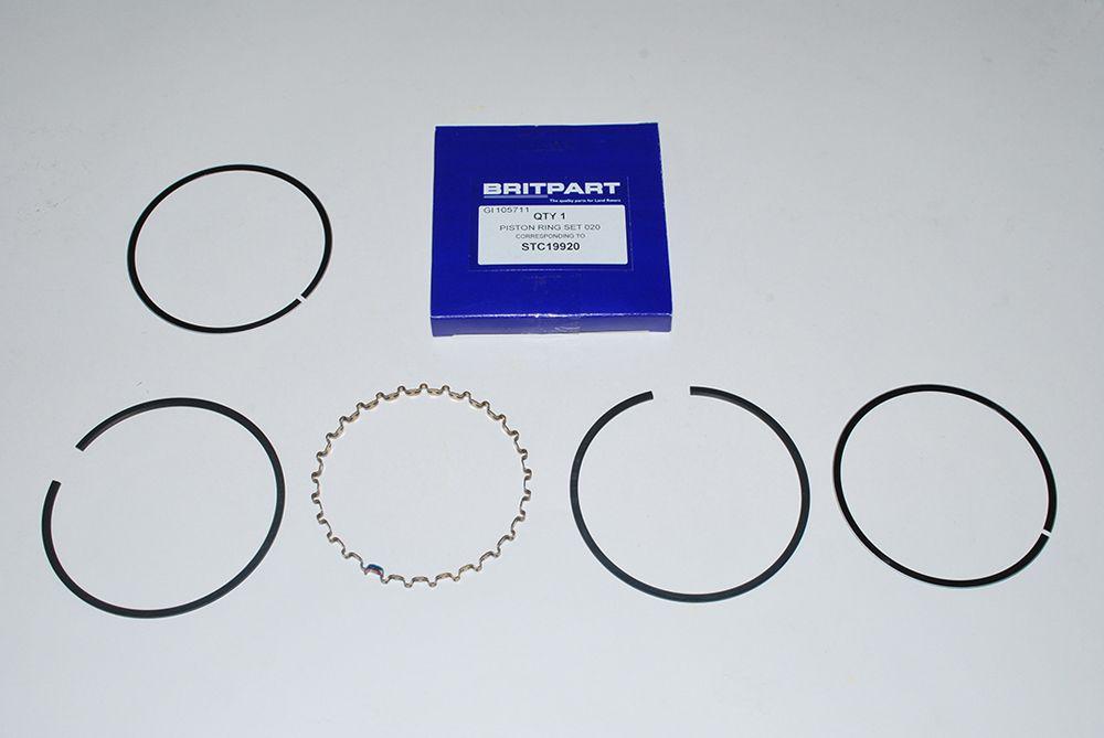 Piston rings - 020 o/s - per piston - 2.5 Petrol