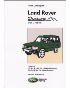 Discovery 1 Parts Catalogue 1989-1998 MY