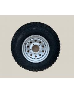 "235/85R16 Falken M/T Mud Terrain tyre fitted and balanced on 16 x 7"" Silver/Grey modular steel rim"