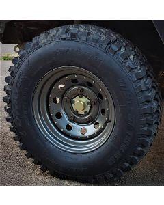 265/75R16 Insa Turbo Dakar Tyre Fitted and Balanced on 16x8 Anthracite Modular Wheel