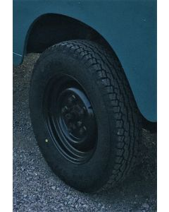 """205R16 Falken A/T All Terrain tyre fitted and balanced on 16x5.5 """" Tubeless Steel Rim (RRC503600PM) - Writing on the Inside"""