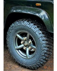 235/85R16 BF GOODRICH MT KM3 Mud tyre fitted and balanced on 16x7in ANTHRACITE ZU alloy wheel (inc. nuts )