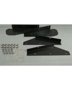 Tuff-Rok Defender 90 Mud Flap Brackets in 2mm Stainless Steel inc Fixings