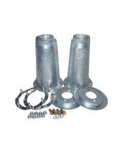 Galvanised Shock Absorber Turrets with fitting Kit