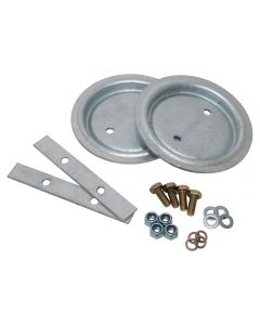 Galvanised Rear Spring Seat And Fitting Kit 110/130