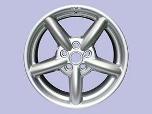 18x8 Zu Alloy Rim - High Power Silver - includes adaptor ring