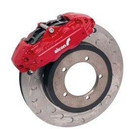 """Red 16"""" 4 Piston Front Brake Kit"""