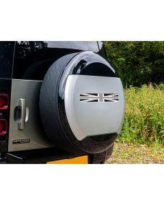 Spare Wheel Cover Sticker - Monochrome Union Jack