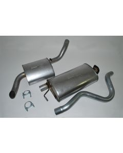 Intermediate silencer and rear tailpipe and silencer - V8
