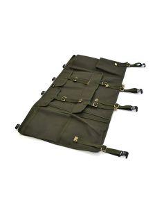 Canvas Side Storage Bag (single) Hard Top, Soft Top fitting - Khaki