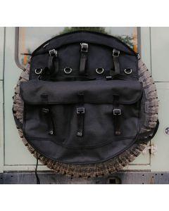 Canvas Wheel Cover Storage Bag - Black