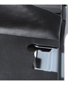 Full Series II/III Front Door Trim Set with Pockets - Black Vinyl