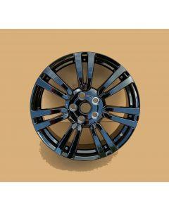 19X8 Gloss Black Twin Spoke Alloy Wheel