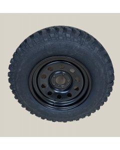 "235/70R16 Insa Turbo Dakar tyre fitted and balanced on 16 x 8"" Disco 2/ P38 Black modular steel rim"