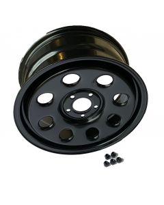 18X8 - DISCOVERY 3 - Satin Black Modular Steel Wheel - Tubeless