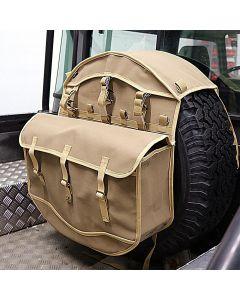 Canvas Wheel Cover Storage Bag - Sand