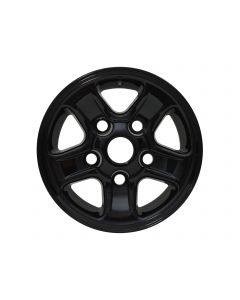 16x7 Black Boost Five Spoke Alloy Wheel with nuts and centre cap