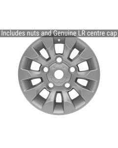 16x7 Sawtooth Style Alloy Wheel - Silver -