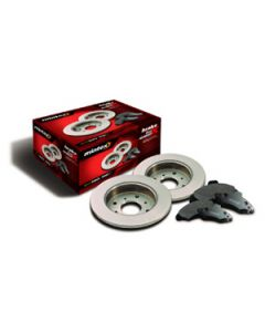 Front Discs and Pads Kit Mintex - Disco 1 from KA034314 with solid discs