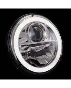 "Wipac 7"" LED Headlights with Halo - Euro Black"