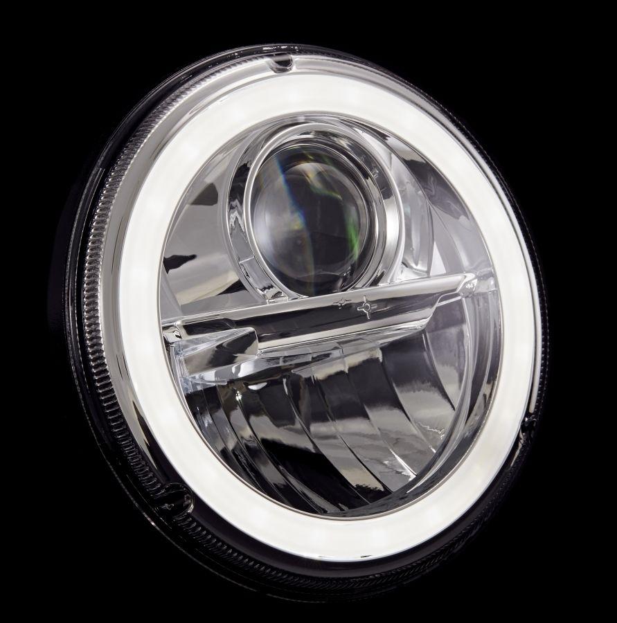 "Wipac 7"" LED Headlights with Halo - Euro Chrome"