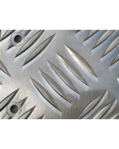 Def 110 Rear Corner Protectors - 2mm Superior Chequer Plate