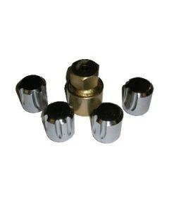 Locking Steel Wheel Nuts - for steel wheels - set of 4