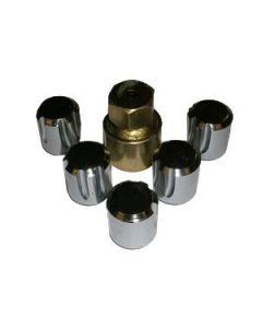 Locking Steel Wheel Nuts - for steel wheels - set of 5
