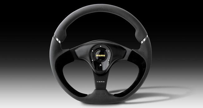 Momo NERO Steering Wheel - 350mm