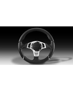 Momo MILLENIUM SPORT Black/Grey Steering Wheel - 350mm