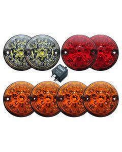 Standard Size 73mm LED Lamp Kit - Coloured Lamps