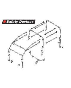 Safety Devices Roll Cage - 6 point Full External Roll Cage Black - 90 without bulkhead - NOT ELIGIBLE FOR FREE DELIVERY