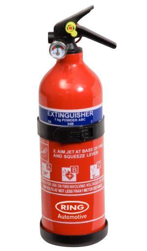 Fire Extinguisher - 1kg Dry Powder - with gauge