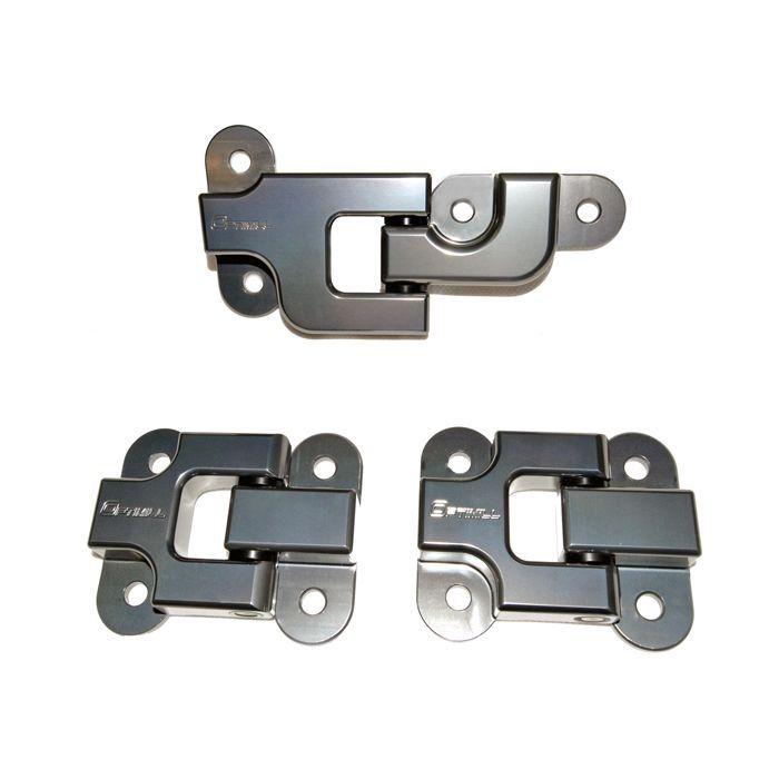 Optimill Security Rear Door Hinges - Set of 3 | GREY