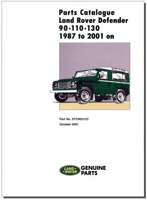 Land Rover Defender 90 110 130 Parts Catalogue 1987-2006