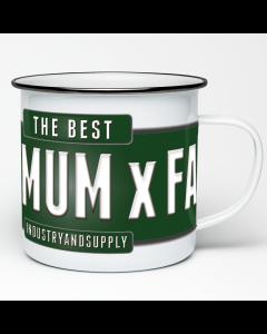 The Best 4X4 Mum X Far Enamel Mug