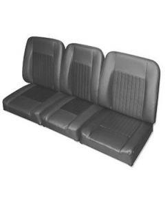 Front deluxe black vinyl seat set DA4298