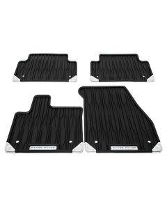 Front & Rear Contour Rubber Mat Set | LHD