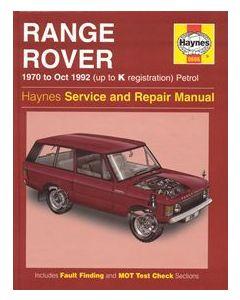 Haynes Workshop Manual - Range Rover V8 1970-1992