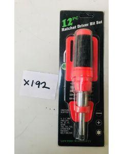 12pc Ratchet driver bit set - X192 - STOCK CLEARANCE